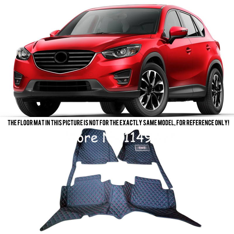 For Mazda CX-5 CX 5 2013 14 15 2016 Interior Leather Custom Car Styling Waterproof Auto Floor Waterproof Mats & Carpets Pads car floor mats for mazda 5 5 7 seats customized foot rugs 3d auto carpets custom made specially for mazda 2 3 5 6