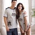Pyjama Women Summer Mens Pajamas Shorts Lovers Sleepwear 100% Cotton  Women's Lounge>Pajama Sets A2031 XXL