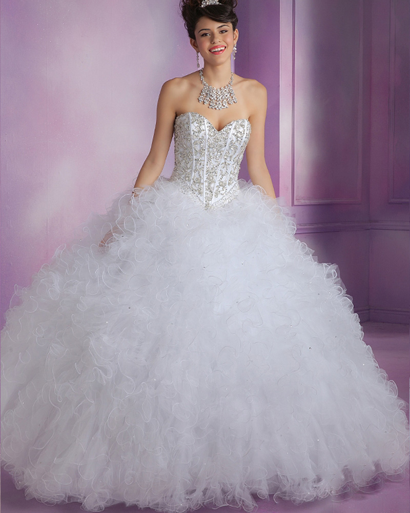 High Quality Wholesale White Quinceanera Dress From China