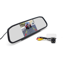 Автомобильный монитор зеркала 4,3 дюйма и камера заднего вида с 4 светодиодами для Corolla Vios Peugeot 206 207 307 407 LEVIN Yaris L Verso Camry Highlander