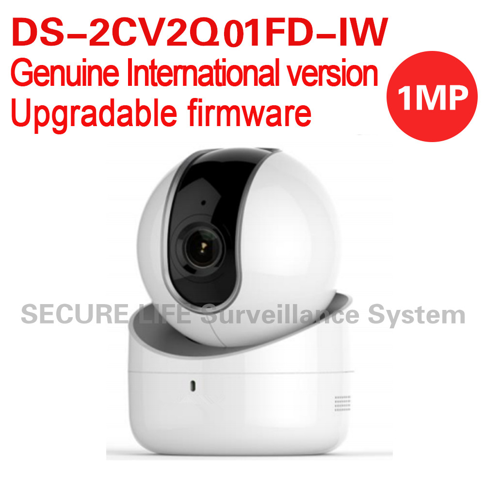 Free shipping DS-2CV2Q01FD-IW English version 1MP 5M IR dome IP CCTV PT Camera wifi, built-in mic speaker two-way audio free shipping in stock new arrival english version ds 2cd2142fwd iws 4mp wdr fixed dome with wifi network camera