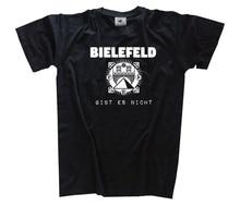 Bielefeld gibt es nicht - Bielefeld Theorie T-Shirt  Harajuku Tops t shirt Fashion Classic Unique