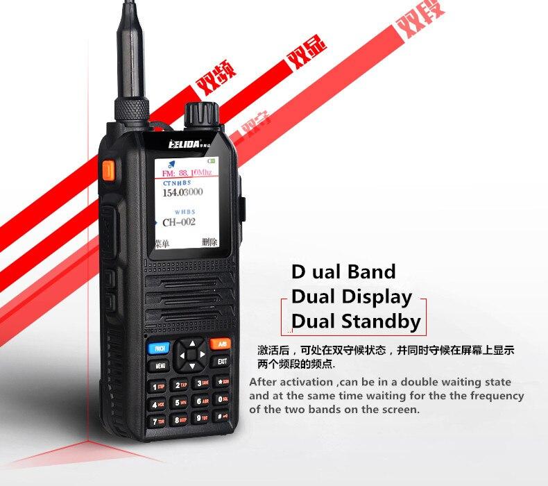 Tri-Band walkie talkiecomunicador radio 5w HENGLIDA CP-UV2000  two way radio VHF/UHF 136-174/400-520 MHz walkie talkie speakerTri-Band walkie talkiecomunicador radio 5w HENGLIDA CP-UV2000  two way radio VHF/UHF 136-174/400-520 MHz walkie talkie speaker