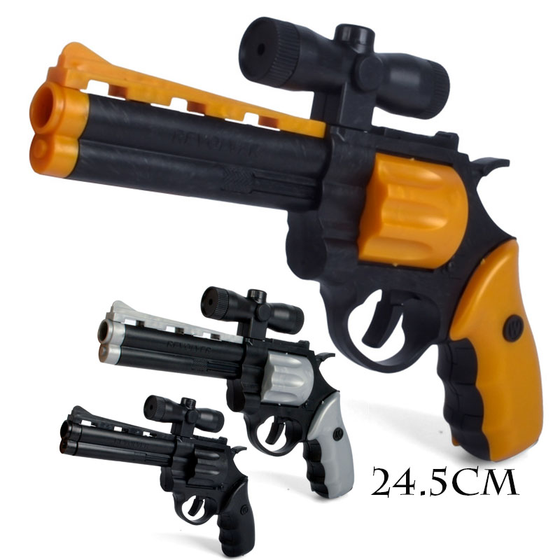 24.5cm DIY Assembled Pistol Gun Revolver Building Block Toys Gun Simulation Demolition Toy with Instructions