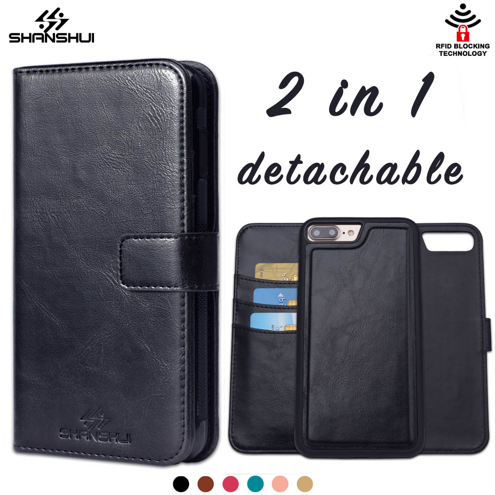 Case for iPhone 6 7 plus 5 SE for PU Leather RFID Block