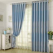Popangel 100% Polyester High Quality Stripe Blackout Ready Made Curtains For Living Room Luxury Shading Bedroom Drapes
