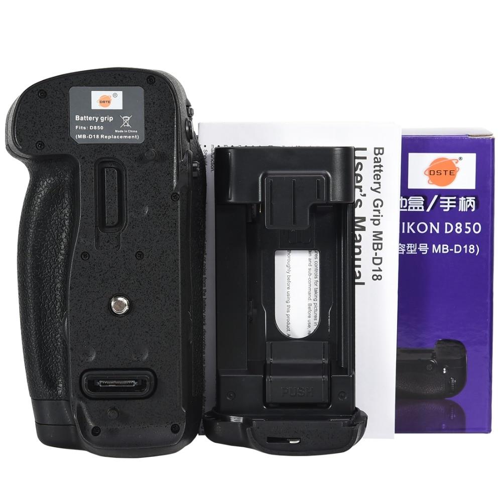 DSTE профессиональный вертикальный Батарейная ручка для Nikon D850 mb-d18 Зеркальные фотокамеры Nikon D850 Батарейная ручка