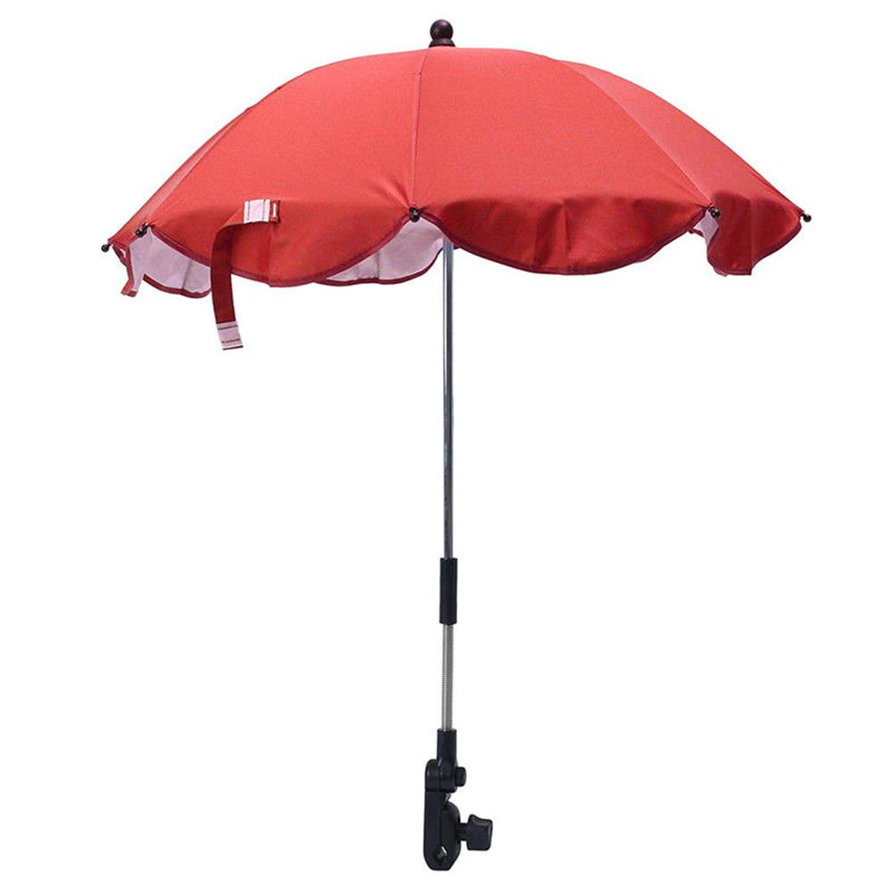 Kids Baby Unisex Sun Umbrella Parasol Buggy Pushchair Pram Stroller Shade Canopy Baby Stroller Accessories Rain Covers