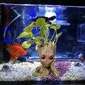 그루트 트리 맨 수족관 장식 수족관 물고기 탱크 화분 펜 냄비에 대한 갤럭시 영웅 액션 그림 장식의 수호자