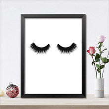Eye Lashes Canvas Art Print Poster, Eyelashes Wall Pictures for Beauty Salon Decoration, Giclee Wall Decor(China)