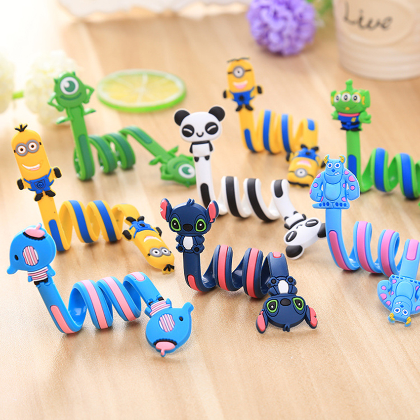 Wholesale 10 20 Pcs Lot Wire Organizer Data Cable Winder Cartoon Style D7 For Earphone 11 Inch Length Mouse line Protector