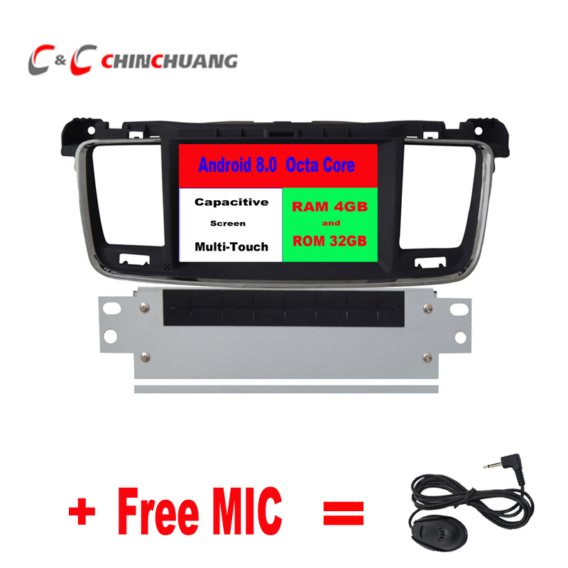 Updated 4GB RAM Octa Core Android 8 0 Car DVD Player for Peugeot 508 Citroen DS5