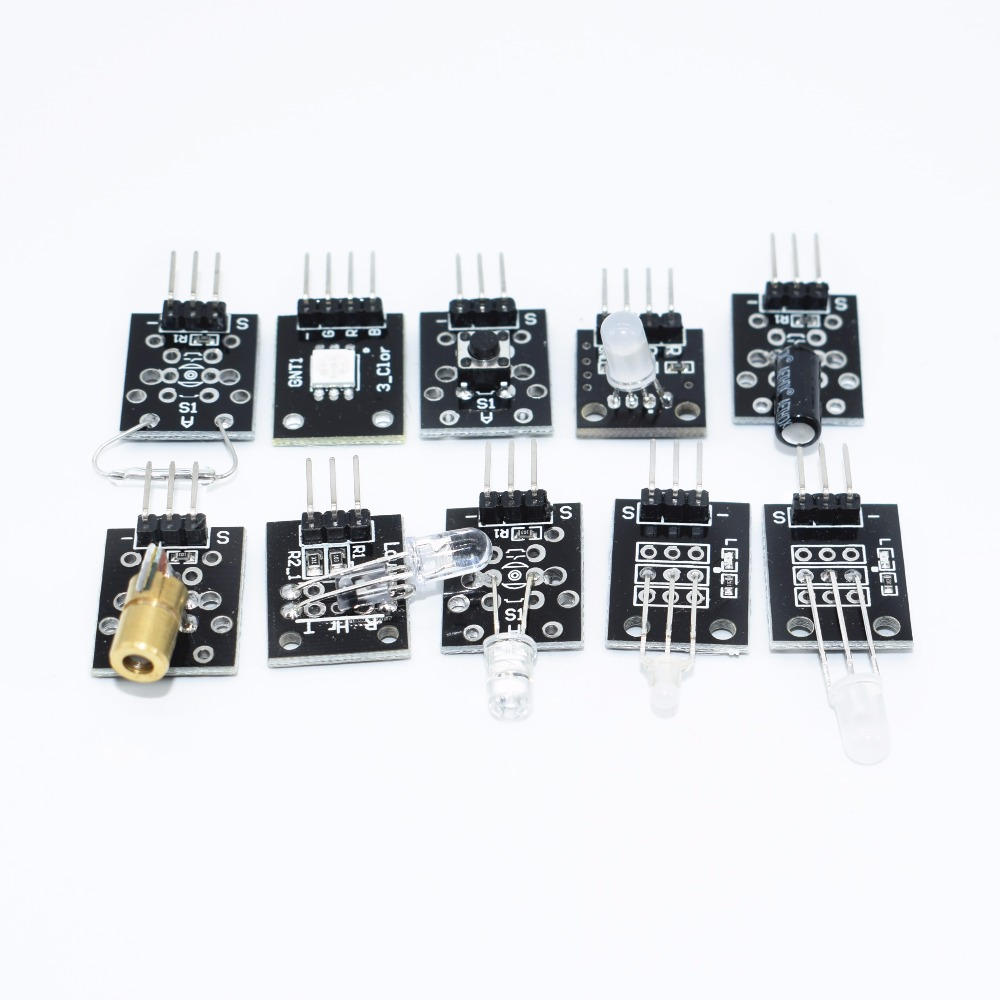 TENSTAR 37 in 1 Sensor Kit Starters kit/ RGB/ joystick/DS18B20 Sensor/ Sound Detection/ Obstacle avoidance /buzzer/