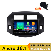 10 2 + 32g 2.5D ips Android 8,1 DVD мультимедиа плеер gps для Toyota RAV4 2007 2010 2011 2012 аудио стерео радио навигации