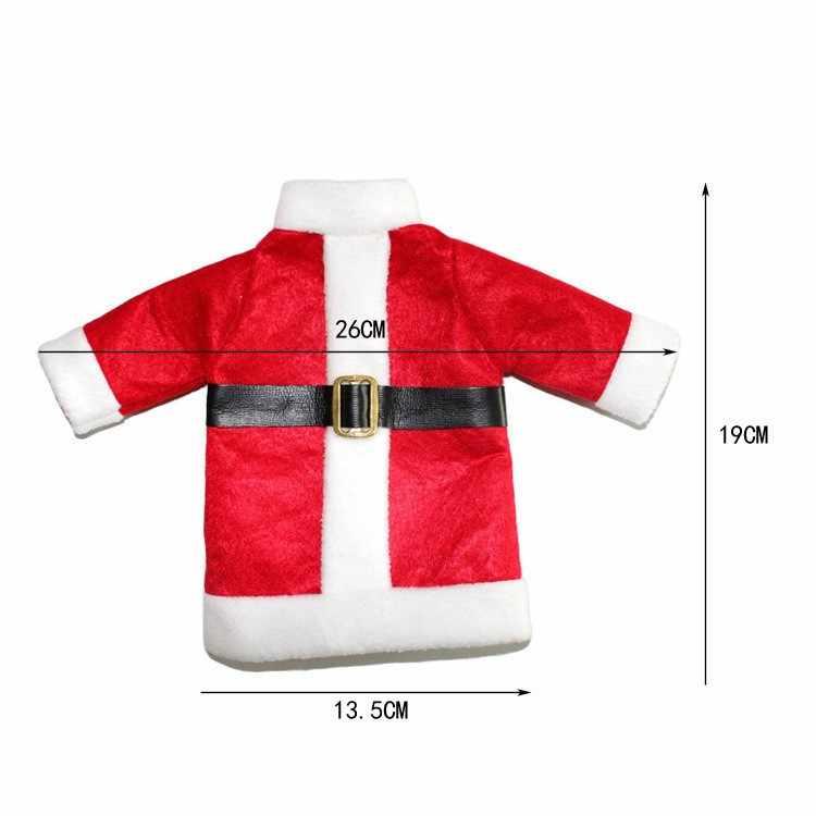 2 יח'\סט חג המולד קישוט אדום יין בקבוק מכסה בגדים עם כובעי עבור בית חג המולד ארוחת ערב או מתנת משלוח חינם