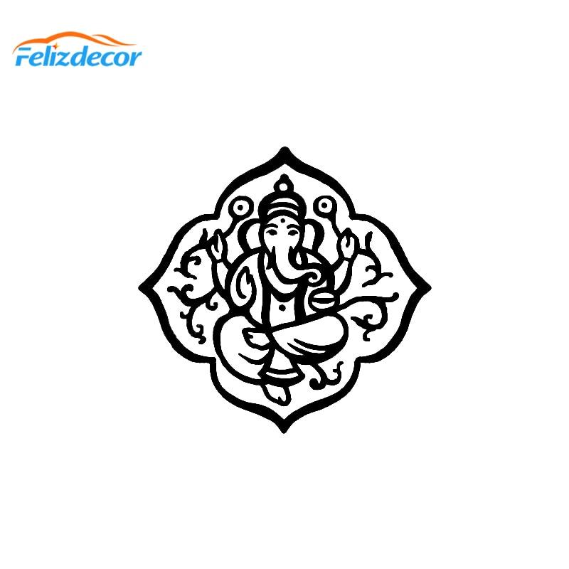 15*15 Cm Boho Stijl Verlichting Zen Decal Art Auto Decor Stickers Meditatie Yoga Decals Creative Auto Raamdecoratie L739 Betrouwbare Prestaties