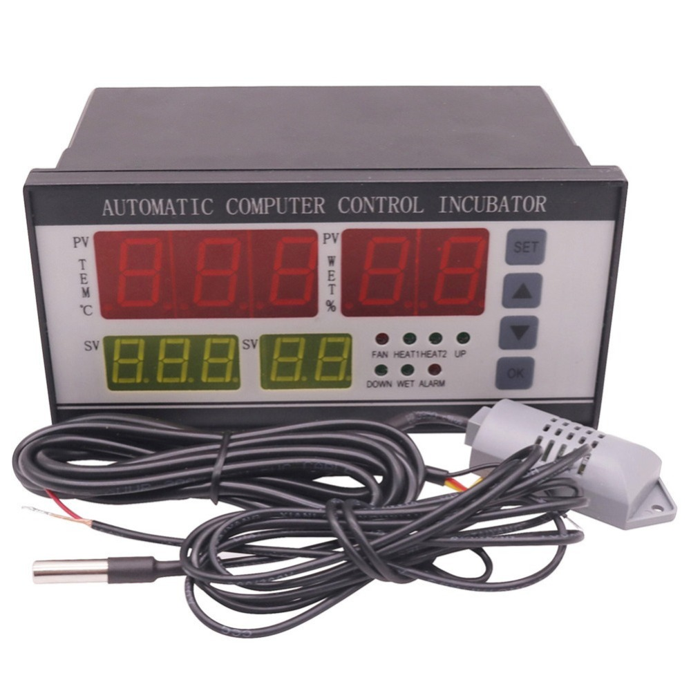 2 sets Automation Controller Temperature Humidity Sensor XM 18 Incubator Parts Digital Display Temperature And Humidity