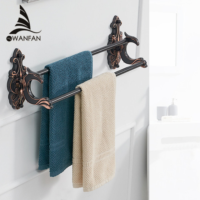 Towel Hangers For Bathroom. Towel Bars Bath Towel Holders Black Brass Wall Shelves Luxury European Style Towel Hangers Bathroom Accessories