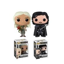 Funko Pop Children toys Game of Thrones Jon Snow Daenerys Targaryen Movie PVC Vinyl Movable head Cute Action Figures Collection