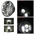 """1 UNIDS 7 """"Harley faro 7 led luz principal del faro 7 pulgadas hi/luz de cruce con DRL Para jeep Wrangler 07-15 Luces de La Motocicleta Harley"""