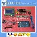 1 pcs Mega 2560 R3 + 1 pcs RAMPS 1.4 Controlador + 5 pcs A4988 Stepper Módulo Driver + 1 pcs 12864 controlador para kit Impressora 3D