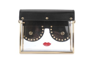 Image 4 - Fashion Transparency Acrylic Box Shape Red Lips Rivet Design Metal Crossbody Messenger Bag Women Handbags Chain Purse Flap Bolsa