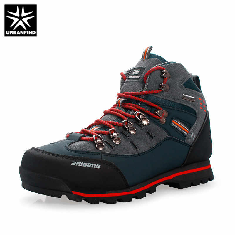 URBANFIND Mannen Laarzen Mannelijke Rubber Combat Ankle Arbeidsveiligheid Schoenen Maat 40-46 Herfst Winter Snowboots Mannen Sneakers