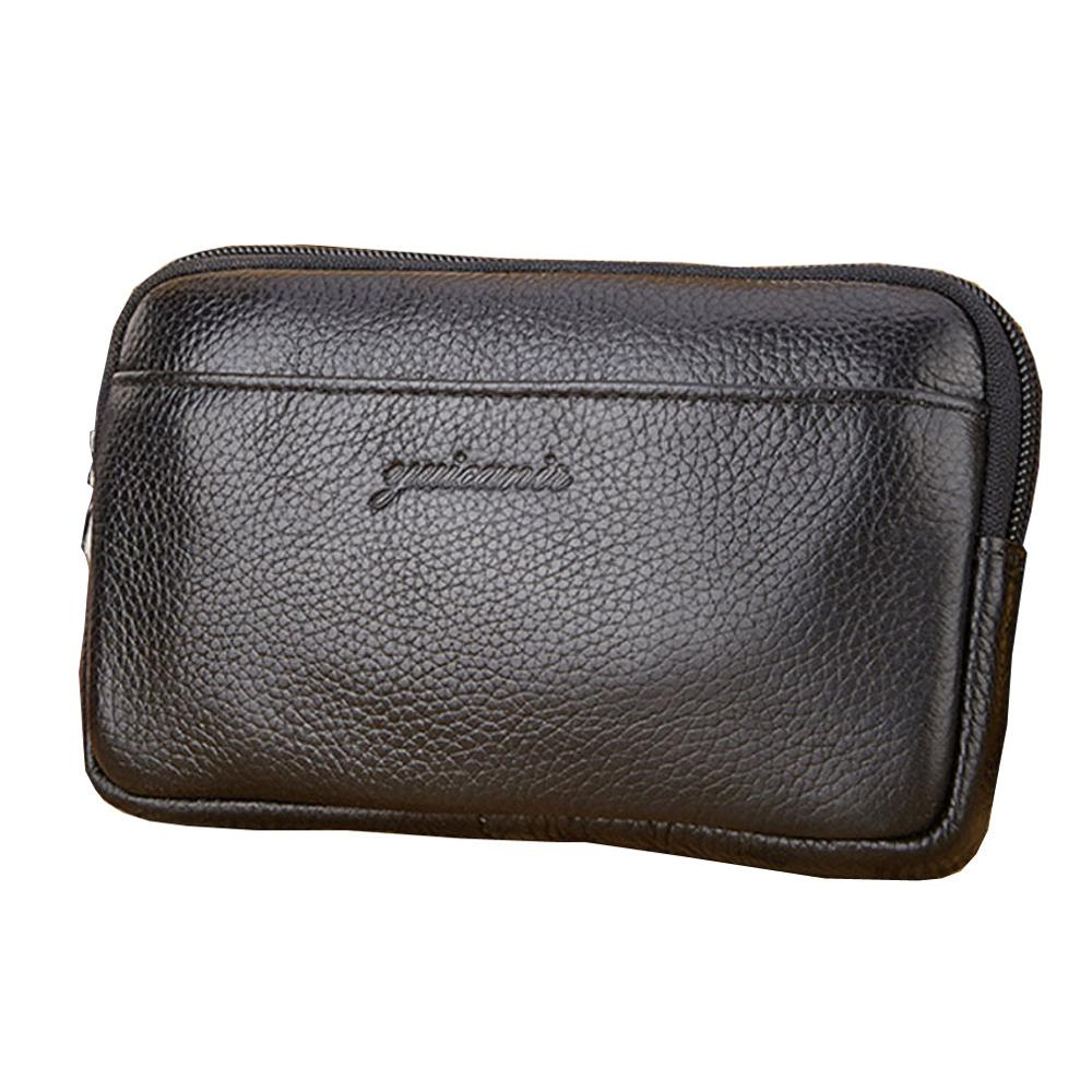 New Men Leather Vintage Cell/Mobile Phone Cover Case Skin Hip Belt Bum Fanny Pack Waist Bag Pouch