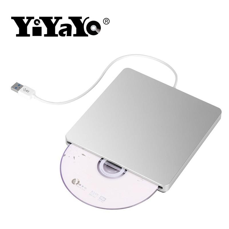 YiYaYo lecteur bluray BD-ROM Externe BD-RW DVD-RW Brûleur à Chargement par Fente CD/DVD/BD ROM Jouer 3D Film Écrivain pour Apple Ordinateur portable