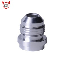 evil energy AN8 AN 8 Male Aluminum Weld Bungs Weld Adapter On Fitting Round Base High Quality Silver(China)