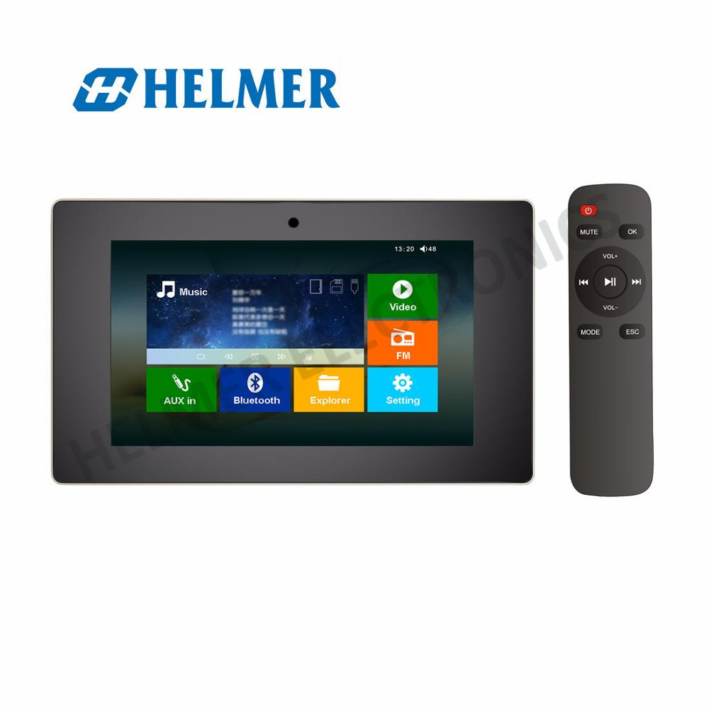 5Reproductor de v/ídeo con Pantalla t/áctil Sistema de Audio est/éreo en casa HELMER Amplificador Bluetooth en la Pared BM207M Negro