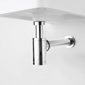 Image 2 - Umywalka łazienkowa pułapka na butelkę dren korek z przelewem, zestaw do spustu zlewu syfon odpływ P TRAP chrom