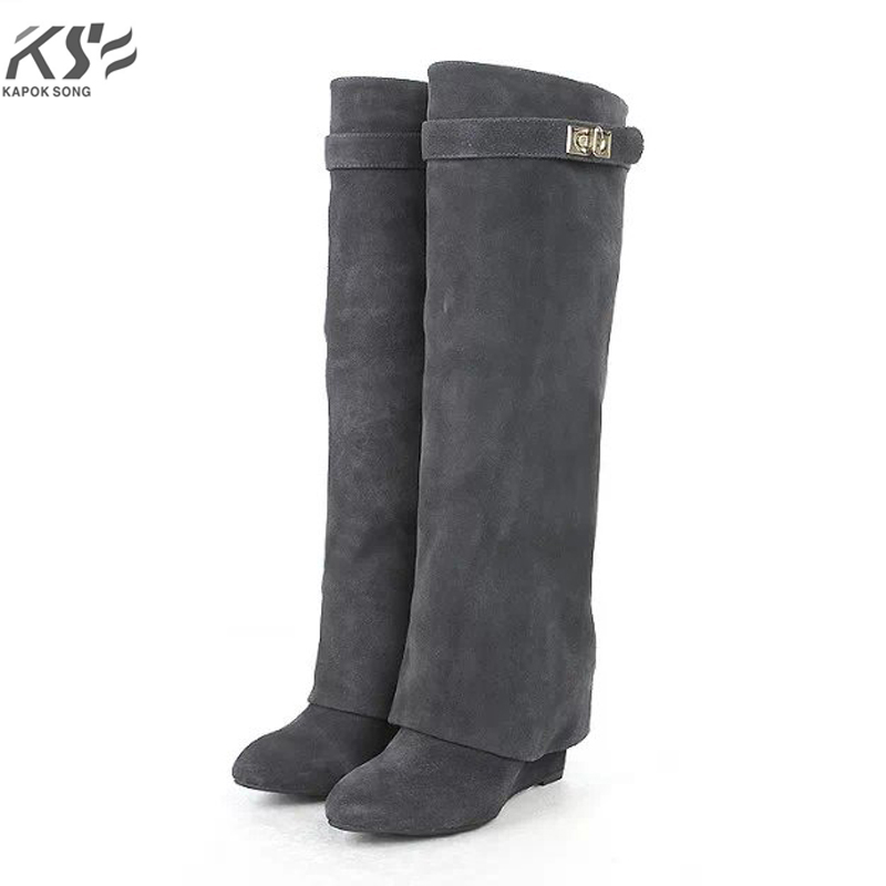 winter high boots genunie cow leather boots women luxury designer brand boot  female  fashion branded desigern boots lady shoes yin qi shi man winter outdoor shoes hiking camping trip high top hiking boots cow leather durable female plush warm outdoor boot