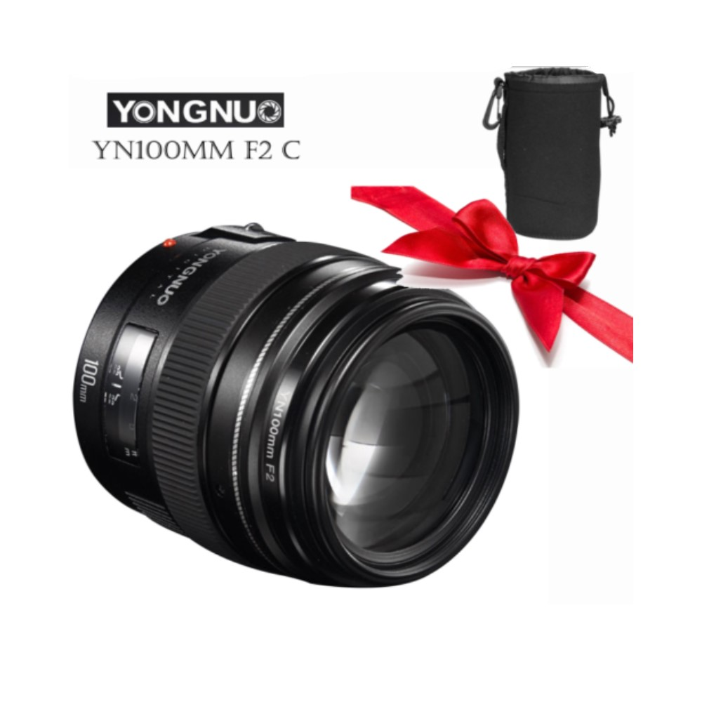 Yongnuo YN100mm F2 Medium Telephoto Prime Lens For Canon EOS Rebel Camera AF MF Lenses image