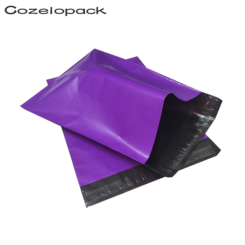 100pcs 6x9inch Purple Poly Mailer 15x23cm Self Adhesive Post Mailing Packaging Mailer With Self Seal Postal Envelopes