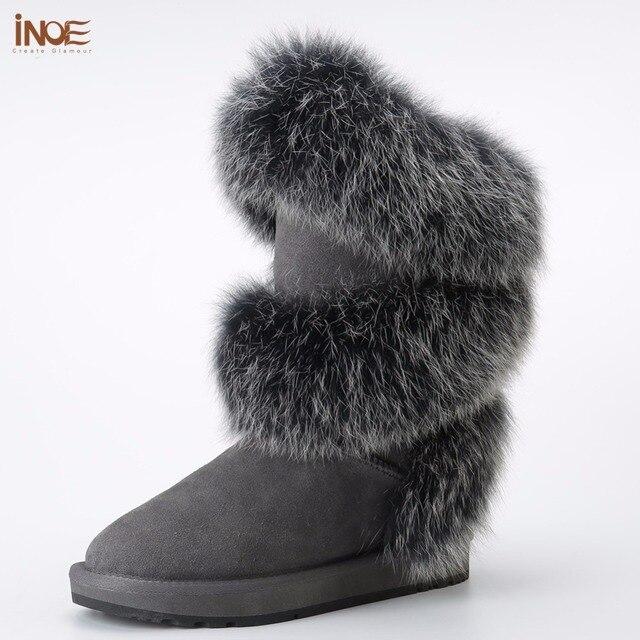 Les nouvelles chaussures bottes femmes bottes en peau de lapin pour les femmes 6C01ChtH2