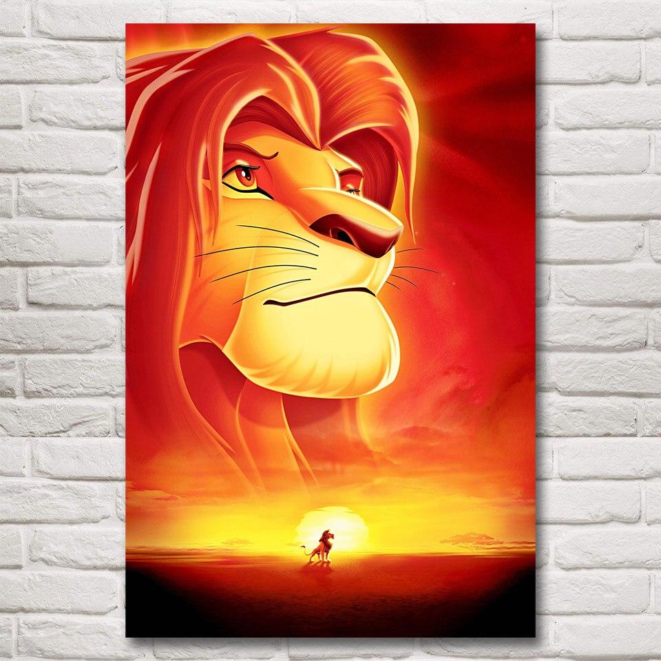 Der König der Löwen Movie Art Silk Stoff Poster Home Wand-dekor ...