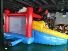 china small bouncing castle bouncer with slide