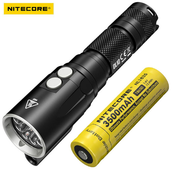 NITECORE DL10 Underwater Diving Flashlight -1000 Lumens -CREE XP-L HI V3 LED with battery nitecore dl10 underwater diving flashlight 1000 lumens cree xp l hi v3 led