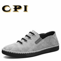 CPI Men S Casual Leather Shoes Sneakers British Style Fashion Design Men S Breathable Comfortable Walking