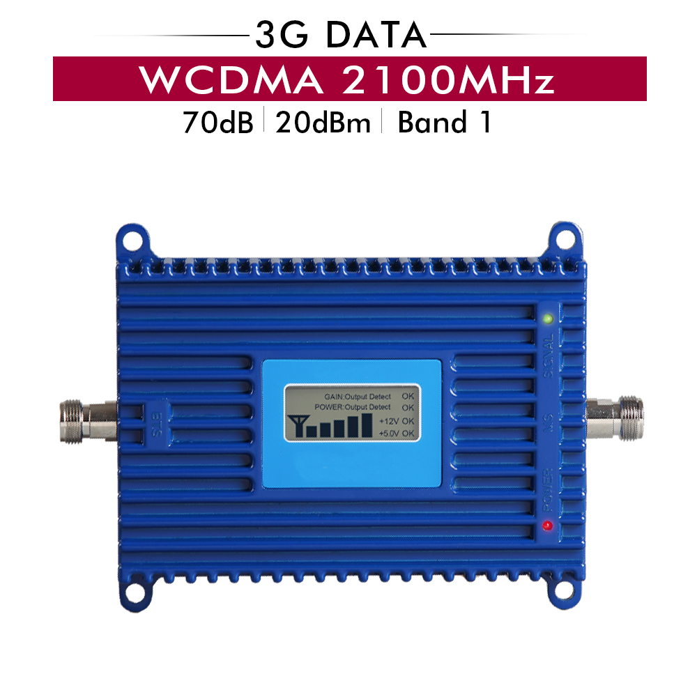 3G WCDMA 2100mhz Cellphone Signal Booster (LTE Band 1)3G UTMS 2100MHz Mobile Cellular Signal Repeater Amplifier with lcd display3G WCDMA 2100mhz Cellphone Signal Booster (LTE Band 1)3G UTMS 2100MHz Mobile Cellular Signal Repeater Amplifier with lcd display