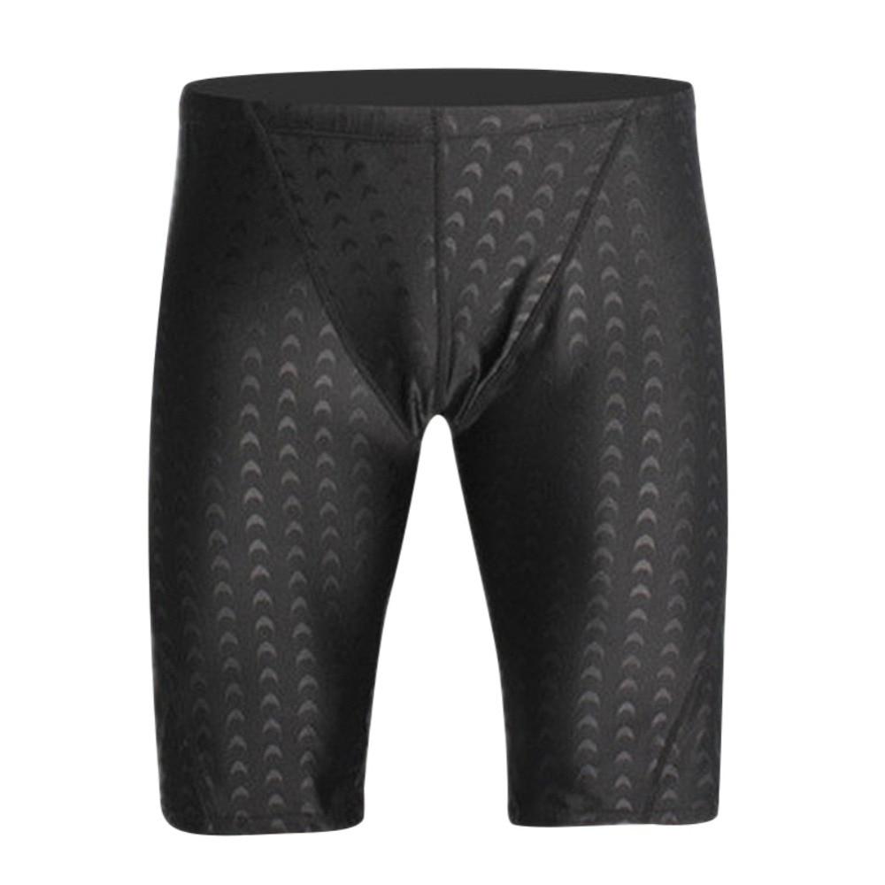 High Quality Skin Swimwear Men Swim Shorts Professional Men Competitive Swim Solid Swimsuit Fifth Pant Plus Size L-5XLNew