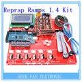 Kit + 2560 Mega + mk2b Heatbed Reprap Rampas 1.4 + 12864 LCD Controlador + DRV8825 + fim de Curso Mecânico + Cabos Para 3D impressora