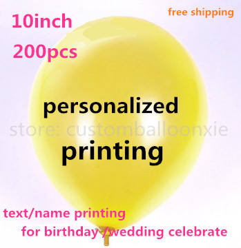 200pcs personalized print ballon customized balloon with letters text printing for Wedding birthday party