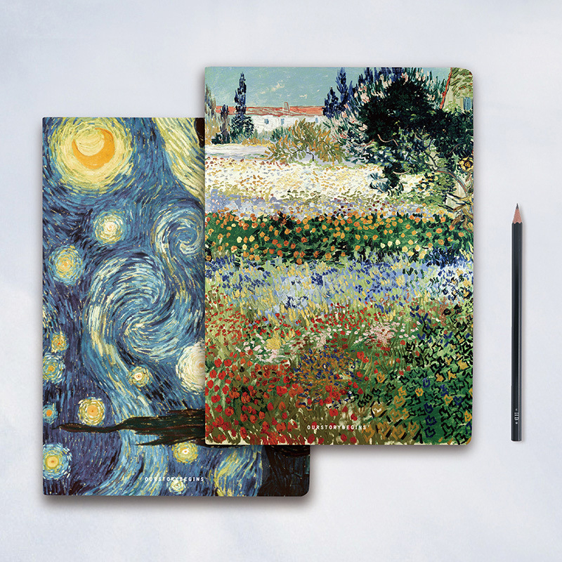 Us 8 79 220 Pages Van Gogh Oil Painting Series Notebook Paper