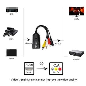 Image 5 - WIISTAR HDMI RCA の AV CVBS コンポーネント変換コンバータボックススケーラー 1080 アダプタケーブルボックス Monito ための L/R ビデオ HDMI2AV HD サポート NTSC PAL