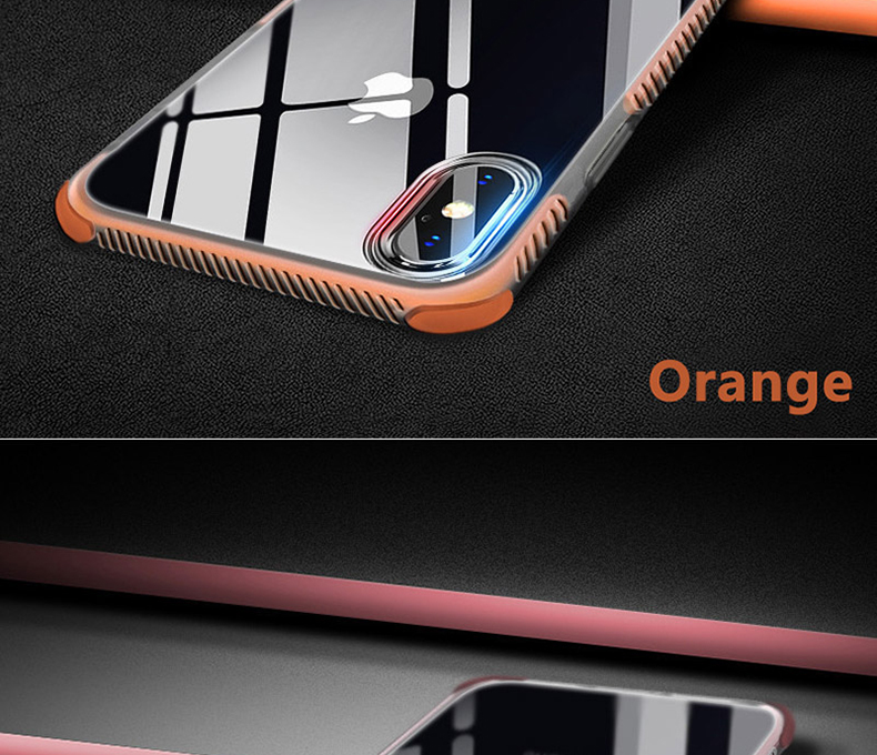 Military grade Anti-knock Case For iPhone X iPhone 7 case soft clear Transparent 2 in 1 TPU+TPE Cover for iPhone 6 6s 7 8 plus (15)