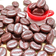 200pcs Cocoa Slime Charms Simulated Coffee Beans Resin Plasticine Accessories Beads Making Supplies For Phone Case Decoration