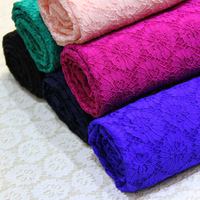 African Pearl Stone High Quality Net Elastic Lace French Voile Guipure Tulle Mesh Lace Fabric For