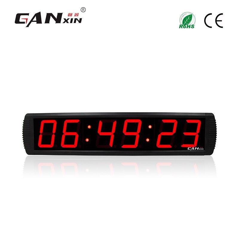 [Ganxin] Специальная акция дешевые светодиодные стены часы для обратного отсчета времени без батареи